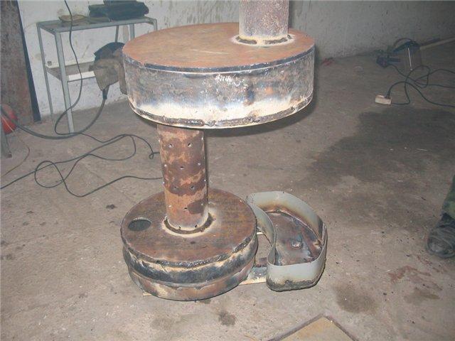 Самодельная буржуйка для отопления гаража - Фото 09