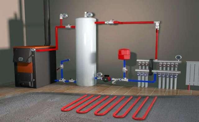 Водяное отопление гаража - Фото 02