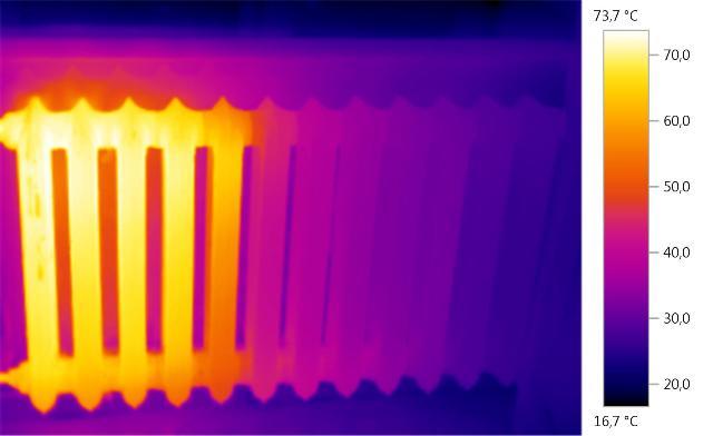 Тепловизионное обследование радиатора - Фото 01