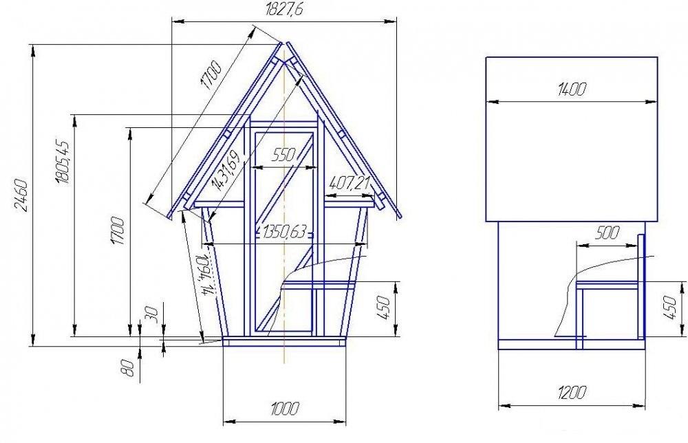 Как построить туалет на даче своими руками фото чертежи 17