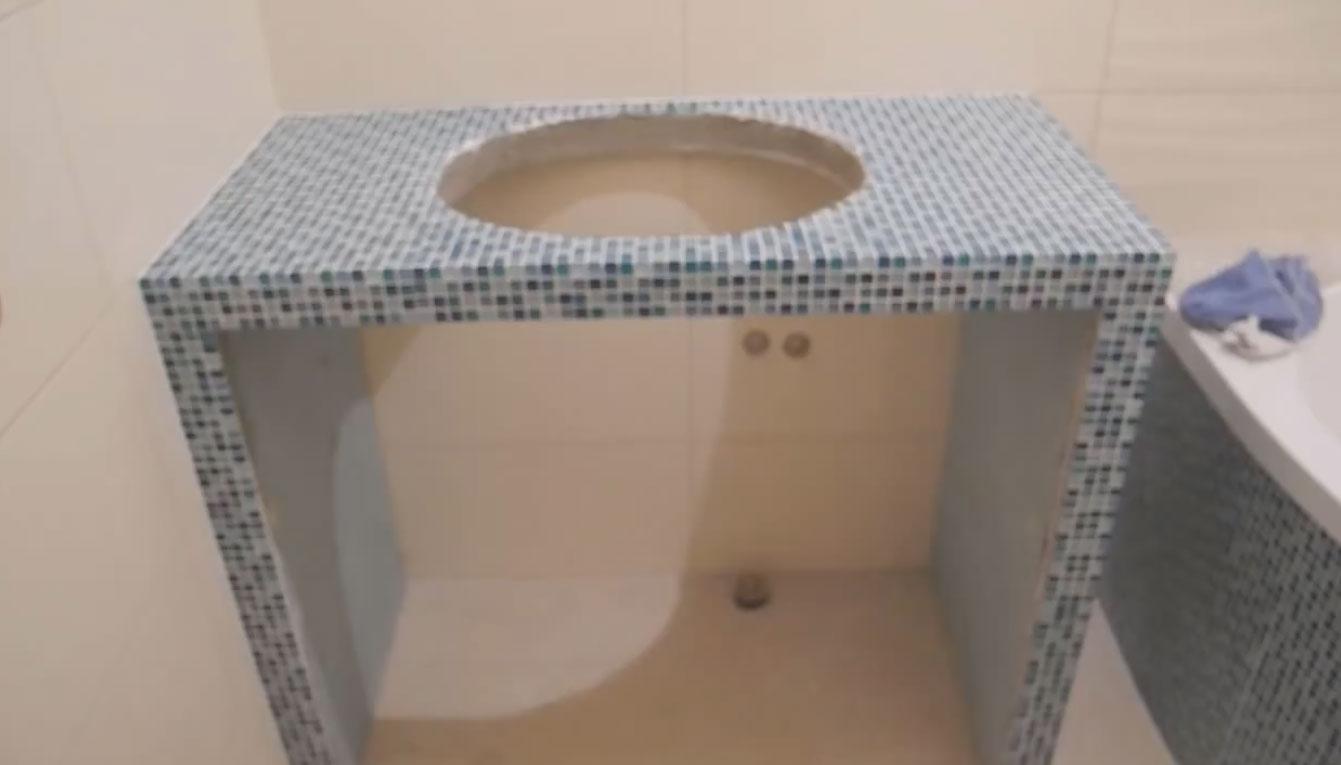 Столешница для ванной изготовление своими руками