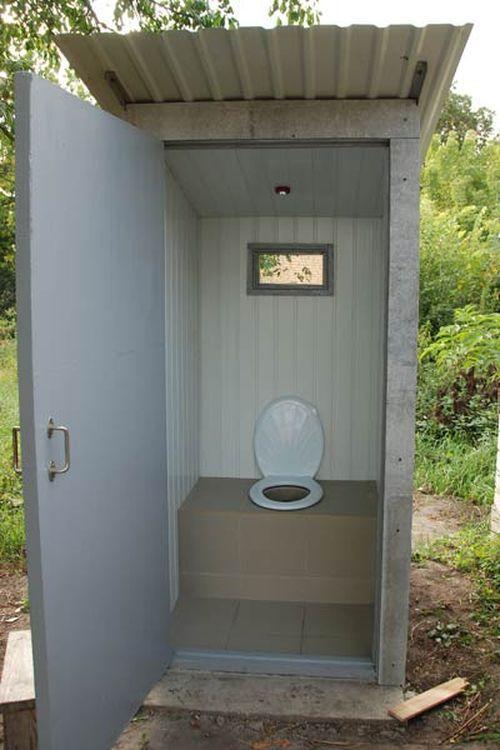 Как сделать уличный туалет своими руками фото