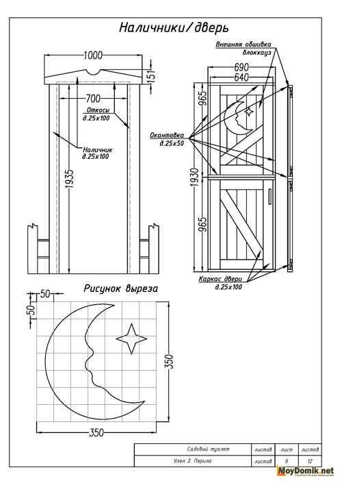 Как построить садовый туалет своими руками чертежи