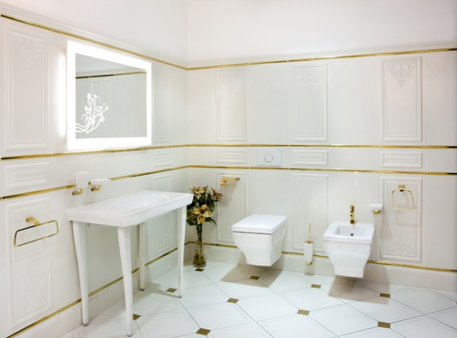 Подвесной унитаз в интерьере ванной - Фото 03