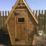 Деревянный туалет - Фото 09