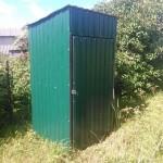 Туалет из профлистов - Фото 12