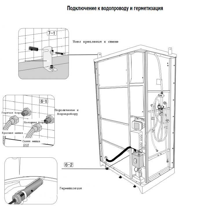 Инструкция по сборке душевой кабины скачать
