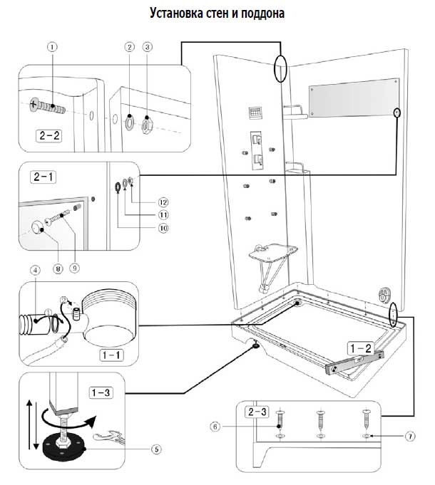 Инструкция по монтажу и эксплуатации для душевых кабин ika